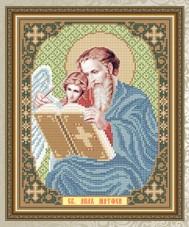 Схема для вышивки бисером на габардине Св. Ап. Евангелист Матвей