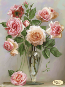 Схема для вышивки бисером на атласе Нежность в бутонах, , 95.00грн., ТА-390, Tela Artis (Тэла Артис), Цветы