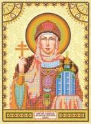 Схема для вышивки бисером на холсте Святая Ольга