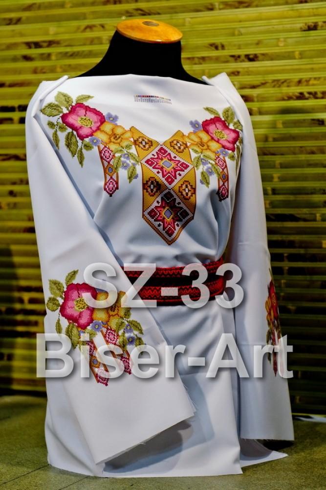 Заготовка для вышивки бисером Сорочка женская Biser-Art Сорочка жіноча  SZ-33 (льон 235c6049992bc