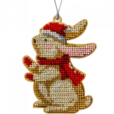 Набор для вышивки бисером по дереву Кролик Волшебная страна FLK-236
