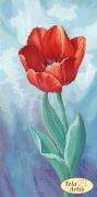 Схема вышивки бисером на атласе Садовые зарисовки. Тюльпан