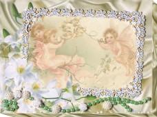 Набор для вышивки бисером Фоторамка Нежные лилии Абрис Арт АР-005