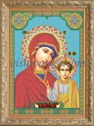 Рисунок на габардине для вышивки бисером Икона БМ Казанская