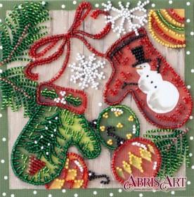 Набор-мини для вышивки бисером на натуральном художественном холсте Праздничные мелочи Абрис Арт AM-201 - 102.00грн.