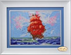 Набор для вышивки бисером Алые паруса Tela Artis (Тэла Артис) НГ-015-1