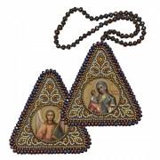 """Набор для вышивания бисером двухсторонней иконы оберега Богородица Иерусалимская"""" и Ангел Хранитель"""