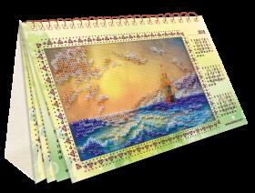 Набор для вышивки бисером Календарь Шум прибоя  , , 216.00грн., АКМ-001, Абрис Арт, Картины из нескольких частей