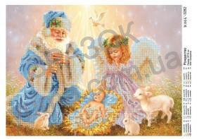 Схема вышивки бисером на атласе Рождество, , 61.00грн., ЮМА-3282, Юма, Новый год