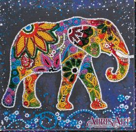 Набор-миди для вышивки бисером на натуральном художественном холсте Индийский слон Абрис Арт AMB-046 - 219.00грн.