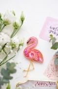 Набор для вышивки украшения Фламинго