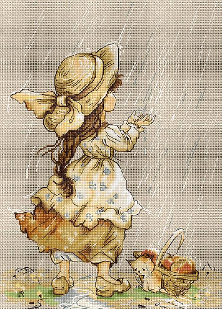 Под дождем вышивка купить