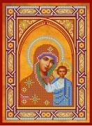 Схема для вышивки бисером на холсте Богородица Казанская