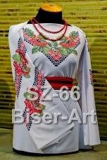 Заготовка для вышивки бисером Сорочка женская Biser-Art Сорочка жіноча SZ-66 (габардин)