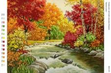 Рисунок на габардине для вышивки бисером Золота осінь Вишиванка А3-107