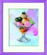 Набор для вышивки бисером Мороженое с ежевикой