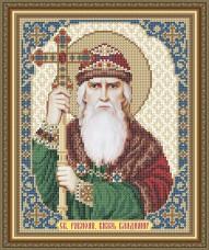 Схема вышивки бисером на габардине Св. Равноап. Князь Владимир Art Solo VIA4157