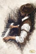 Схема вышивки бисером на атласе Джаз. Пианино