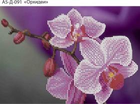 Схема для вышивки бисером на габардине Орхидеи