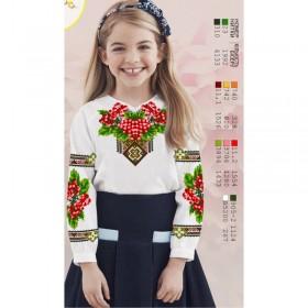 Заготовка детской сорочки на белом габардине Biser-Art Д114 - 200.00грн.