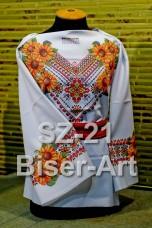 Заготовка для вышивки бисером Сорочка женская Biser-Art Сорочка жіноча SZ-21 (габардин)