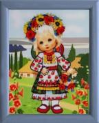 Схема для вышивки бисером Украиночка