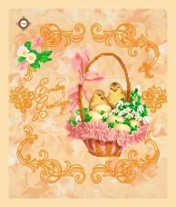 Схема вышивки бисером на габардине Салфетка Поздравления с Пасхой Миледи СЮ-002