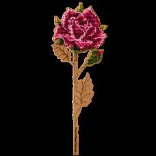 Набор для вышивки по дереву Роза Волшебная страна FLK-198
