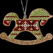 Набор для вышивки бисером по дереву Лошадка