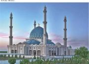Схема для вышивки бисером на габардине Мечеть