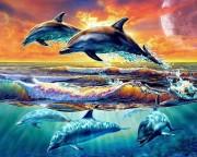 Набор для выкладки алмазной мозаикой Игры дельфинов