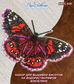 Набор для вышивки бисером Бабочка Адмирал красный Вдохновение NBFL-036 - 115.00грн.