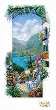 Схема для вишивання бісером на габардине Італійські пейзажи. Сицилія Tela Artis (Тэла Артис) ТА-403