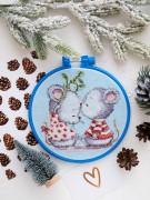 Набор для вышивки крестом Влюбленные мышата