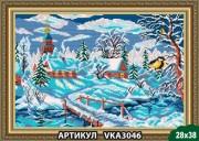 Рисунок на ткани для вышивки бисером Зима