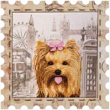 Набор для вышивки нитками Почтовая марка Йоркширский терьер
