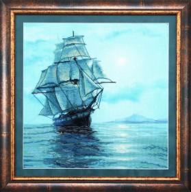 Набор для вышивки крестом Лунное сияние, , 319.00грн., РК-069, Чарiвна мить (Чаривна мить), Морская тематика