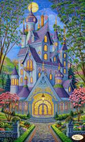 Схема для вышивки бисером на атласе Волшебный замок. Весна, , 160.00грн., ТК-079, Tela Artis (Тэла Артис), Большие схемы вышивки бисером