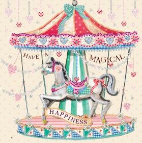 Схема вышивки бисером на холсте Карусель счастья