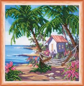 Набор для вышивки бисером Хижина у моря