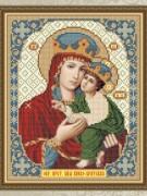 Схема для вышивки бисером на габардине Богородица Киево - Братская