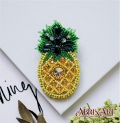 Набор для вышивки бисером украшения Ананас
