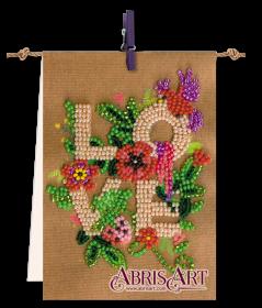 Набор-флажок для вышивки бисером на холсте Для тебя, , 81.00грн., АТ-001, Абрис Арт, Цветы