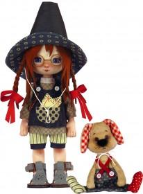 Набор для шитья куклы и мягкой игрушки Девочка с собачкой Zoosapiens К1077Z - 595.00грн.