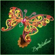 Набор для вышивки бисером Ажурная бабочка 3D 090