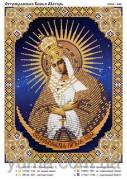 Схема вышивки бисером на атласе Остробрамская Божья Матерь