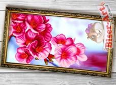 Схема вышивки бисером на габардине Панно Сакура Biser-Art 3060002