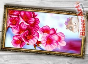Схема вышивки бисером на габардине Панно Сакура Biser-Art 3060002 - 130.00грн.