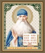Схема вышивки бисером на авторской канве Святой Преподобный Максим Грек