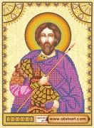 Схема для вышивки бисером на холсте Святой Артемий (Артем)